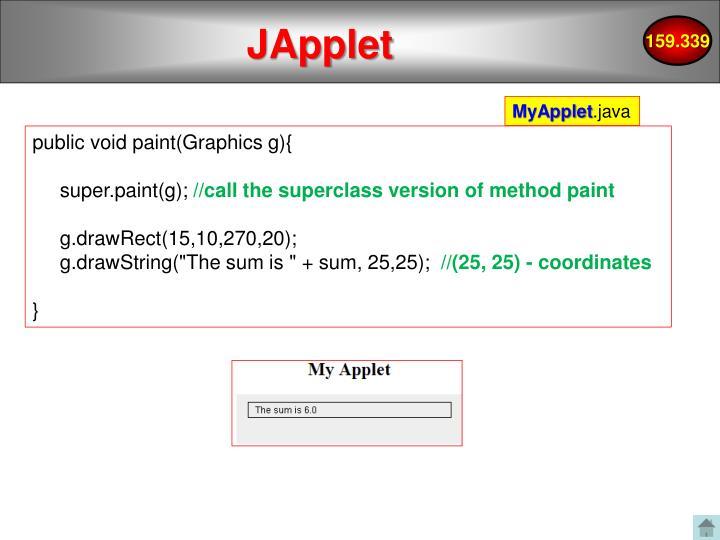 JApplet