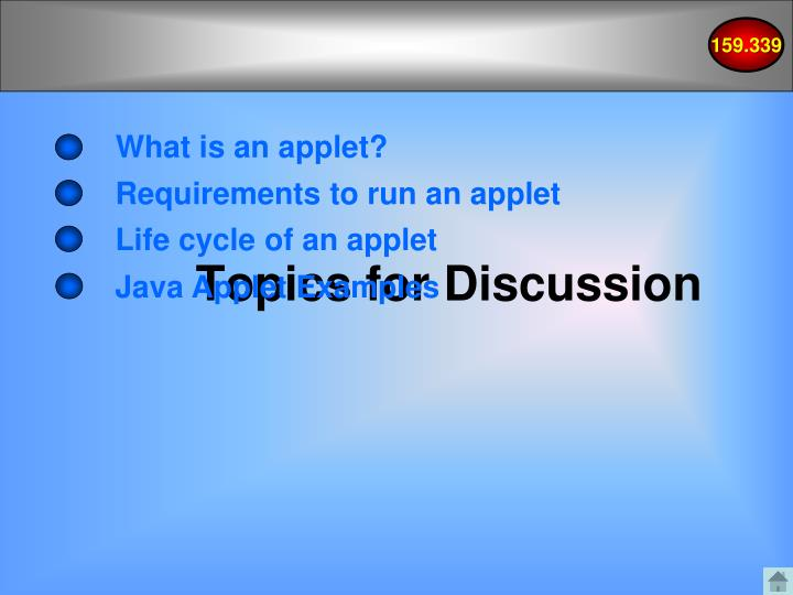 What is an applet?