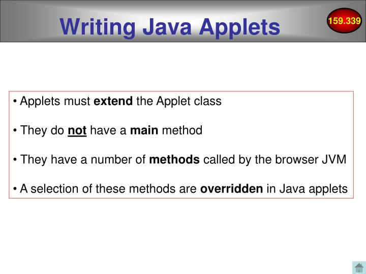 Writing Java Applets