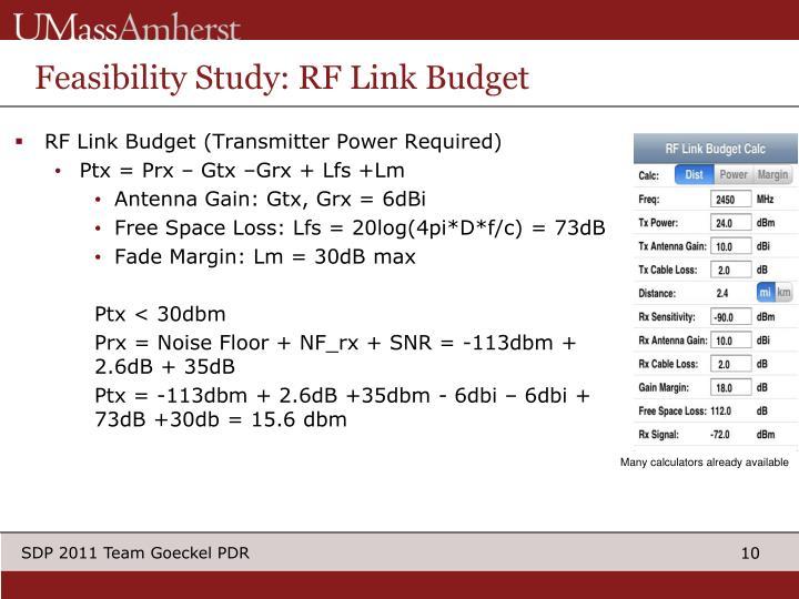 Feasibility Study: RF Link Budget