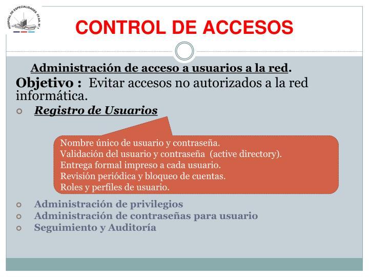 CONTROL DE