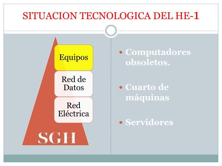 SITUACION TECNOLOGICA DEL HE-