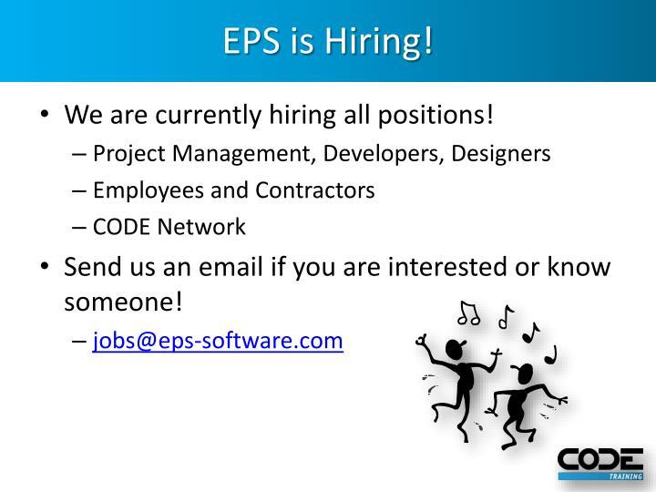 EPS is Hiring!