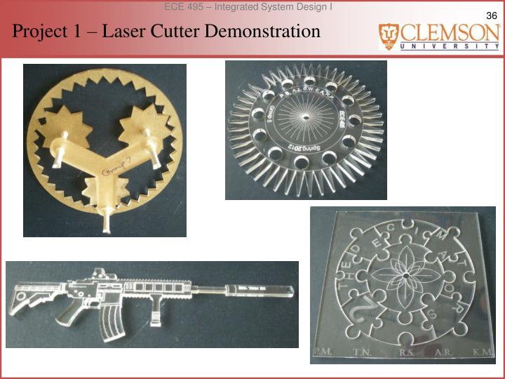 Project 1 – Laser Cutter Demonstration