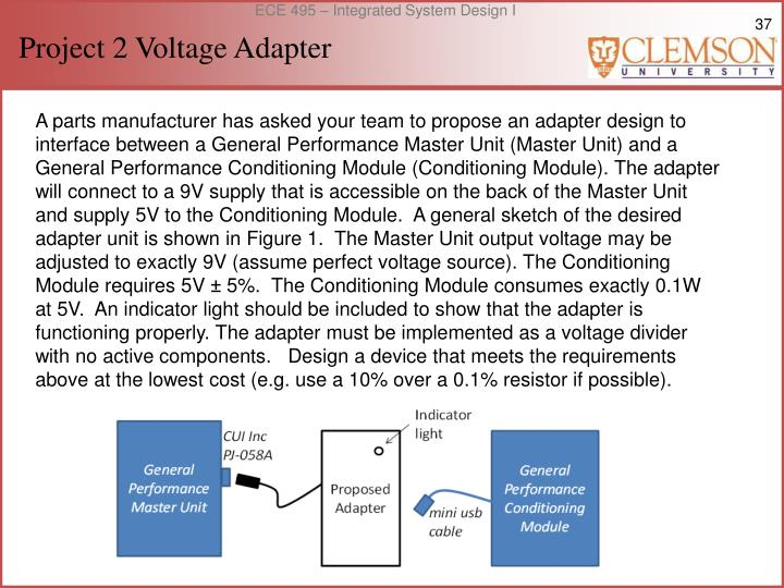 Project 2 Voltage Adapter