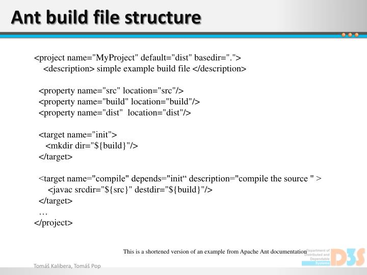 Ant build file structure