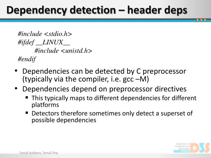 Dependency detection – header
