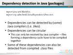 dependency detection in java packages