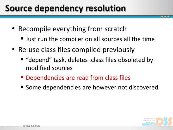 Source dependency resolution