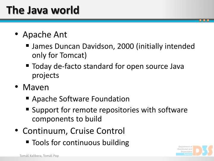 The Java world