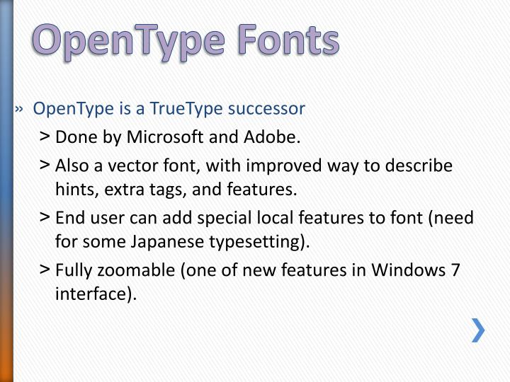 OpenType