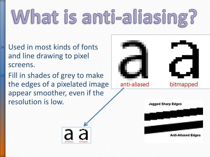 What is anti-aliasing?