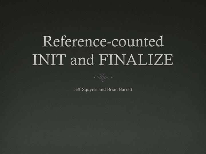 Reference-counted