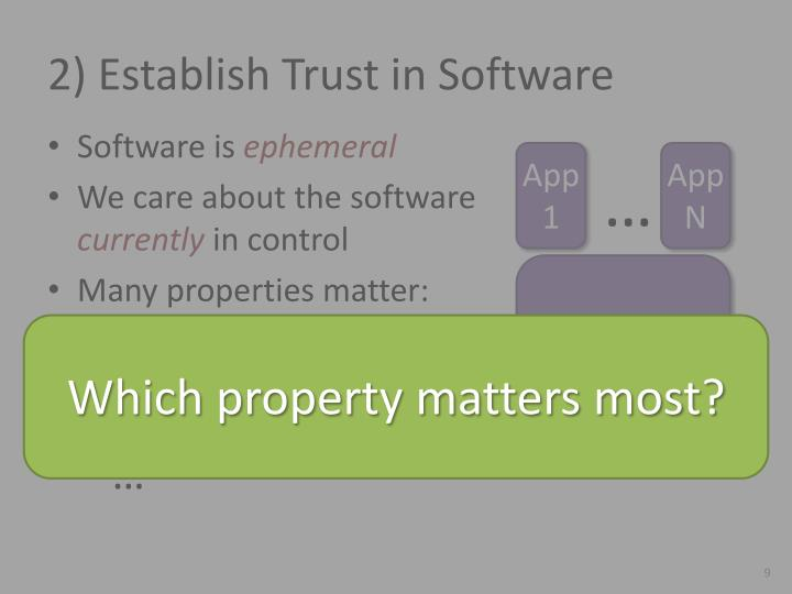 2) Establish Trust in Software