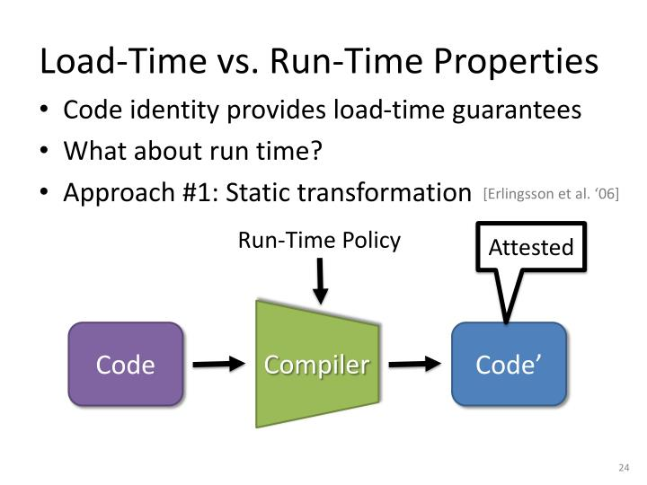 Load-Time vs. Run-Time Properties