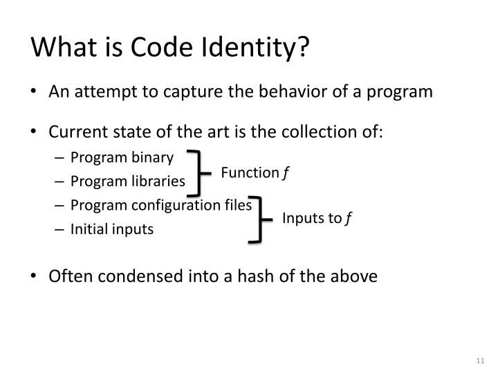 What is Code Identity?