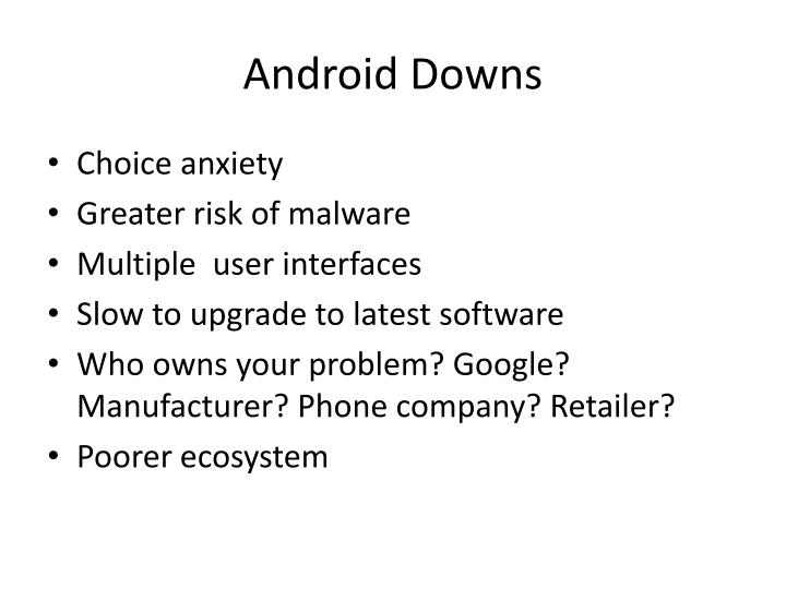Android Downs