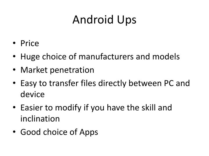 Android Ups