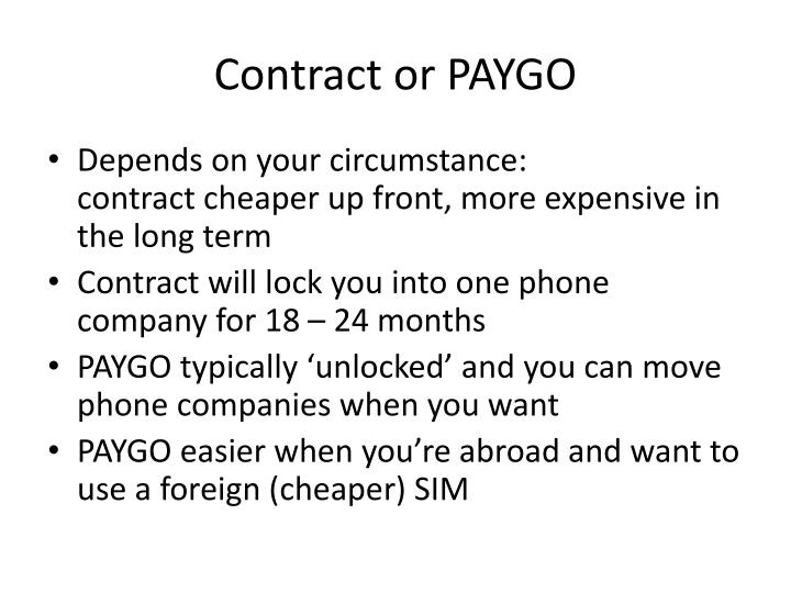 Contract or PAYGO