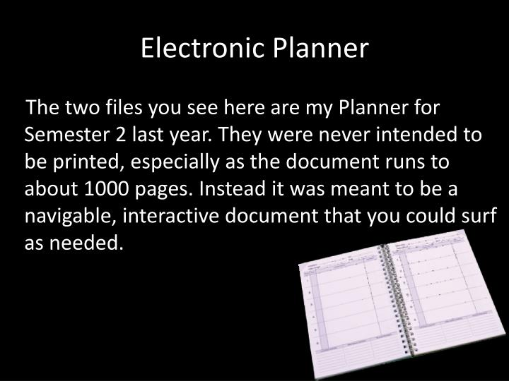 Electronic Planner