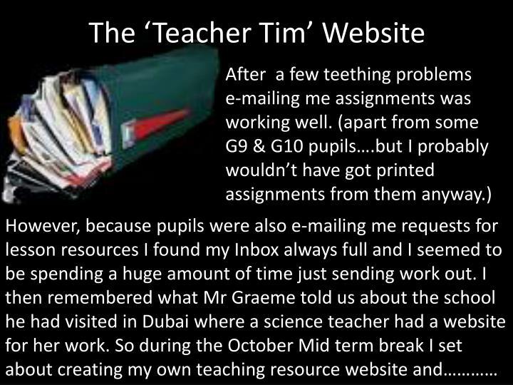 The 'Teacher Tim' Website