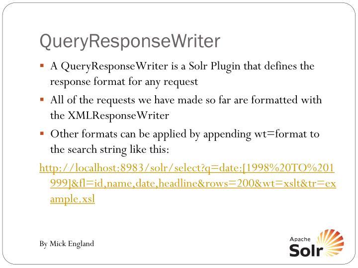QueryResponseWriter