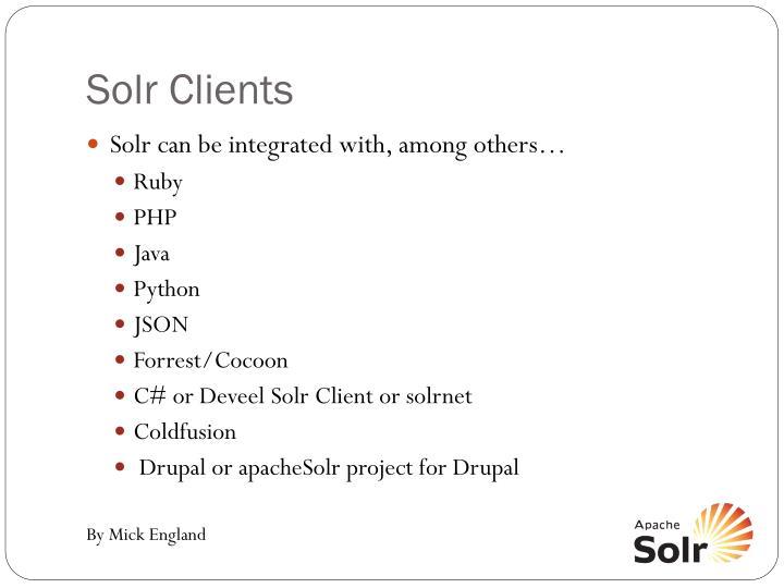 Solr Clients