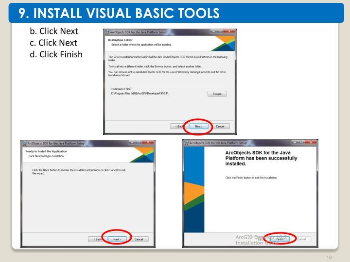 9. INSTALL VISUAL BASIC TOOLS