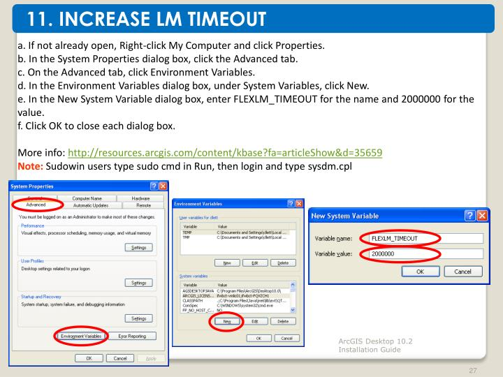 11. INCREASE LM TIMEOUT
