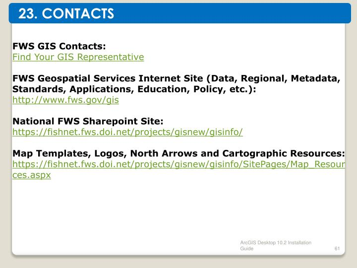 23. CONTACTS