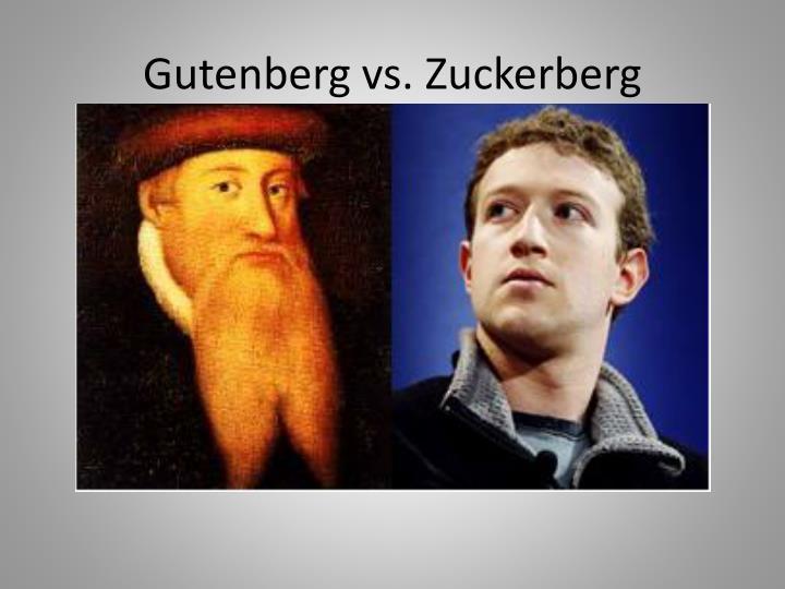 Gutenberg vs.