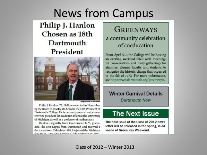 News from Campus