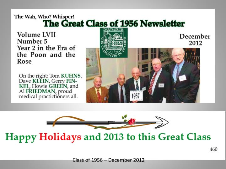 Class of 1956 – December 2012