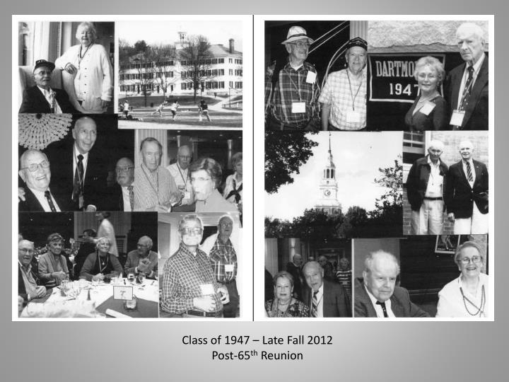 Class of 1947 – Late Fall 2012
