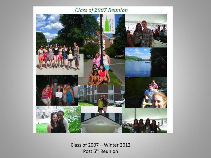 Class of 2007 – Winter 2012