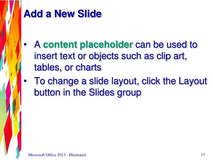 Add a New Slide