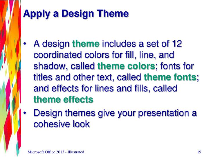 Apply a Design Theme
