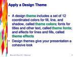 apply a design theme