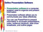 define presentation software
