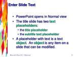 enter slide text
