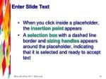 enter slide text1