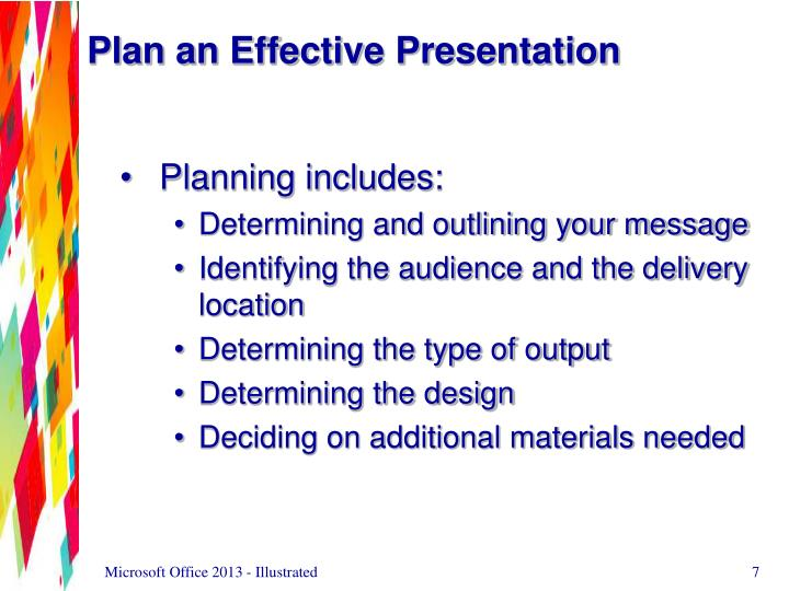 Plan an Effective Presentation