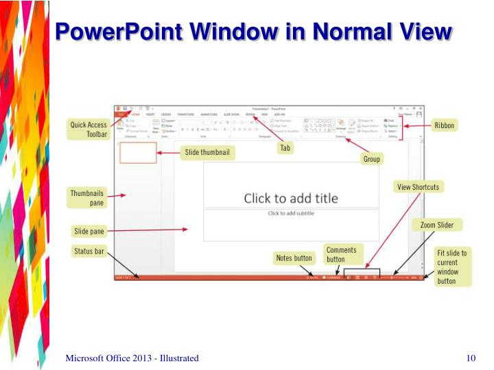 PowerPoint Window in Normal View