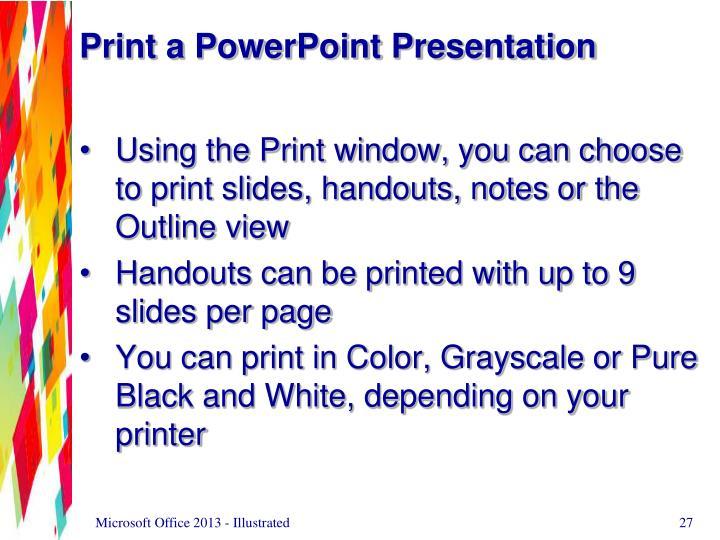 Print a PowerPoint Presentation