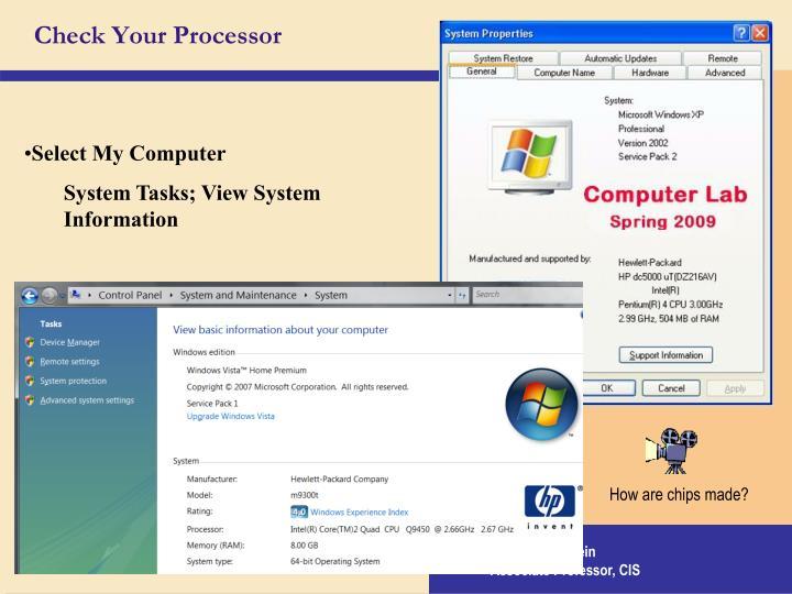 Check Your Processor