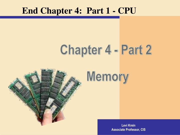 Chapter 4 - Part 2