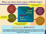 what are three basic types of ram chips