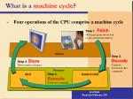 what is a machine cycle