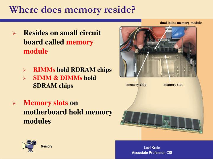Where does memory reside?