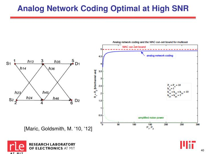 Analog Network Coding Optimal at High SNR
